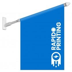 Drapeau publicitaire vitrine PVC fixation adhésive ou vis