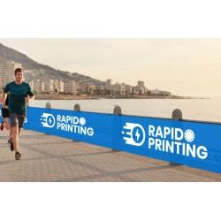 Impression banderole publicitaire en rouleau événement sportif sur bâche intissé 150g