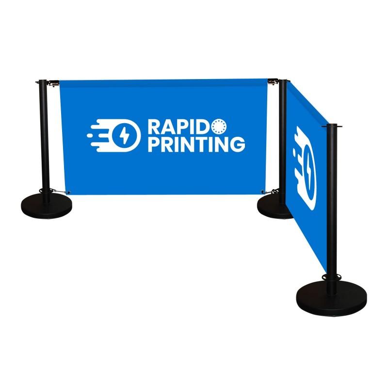 Barrière de séparation imprimée pour terrasse ou gestion de flux