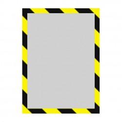Porte affiche adhésif mural consigne de sécurité