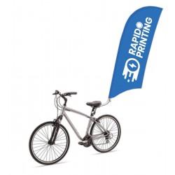 Drapeau publicitaire impression logo beach flag fixation vélo